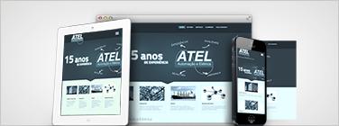 Criação de site institucional para empresa e negócios em geral.  Site responsivo e ajustável em celulares